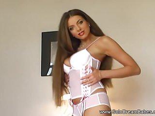 Tan brunette milf Perfect polish princess shows off her amazing tan body