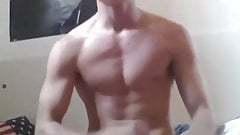 Fit Boy Swallows His Cum