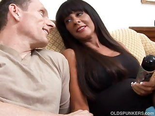 Busty older woman fucked Busty older brunette loves to get fucked in her ass