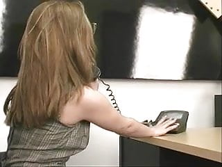 Nylons office tgp - Adorable chick with puffy bobbs is left lonely in office