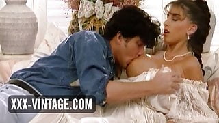 Rich woman Sarah Young satisfied by horny guy