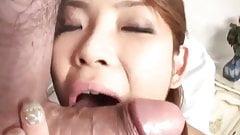 Rui Horie sucks shlong till gets cum in mouth