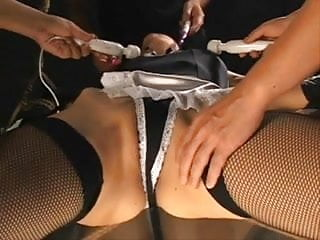 How to massage her clitoris - I wonder how her clitoris feeling under that maid panties 2