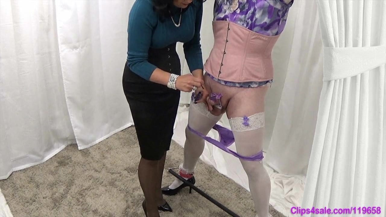 Dressed to kill sissy milking a guys shaft before opening up for anal job