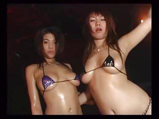 Micro bikini titis Japanese micro bikini dancers - mana suguira daiya mizusaw