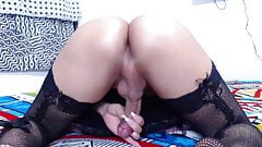Will you suck, fuck or wank and nut in that tranny ass?