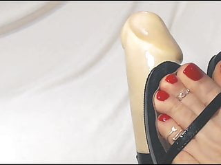 Pantyhose strap on - Strap sandals sexy feet