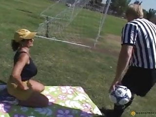 Breast cancer referee jersey - Fucked by the referee