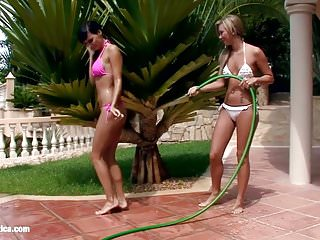 Cary maria naked Carie and natali play with water and have lesbian sex