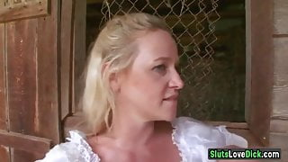 Farmer's Wife Gets Big Black Horse Cock