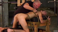 Submissive twink Jay Mc Dally restrained for BDSM torture