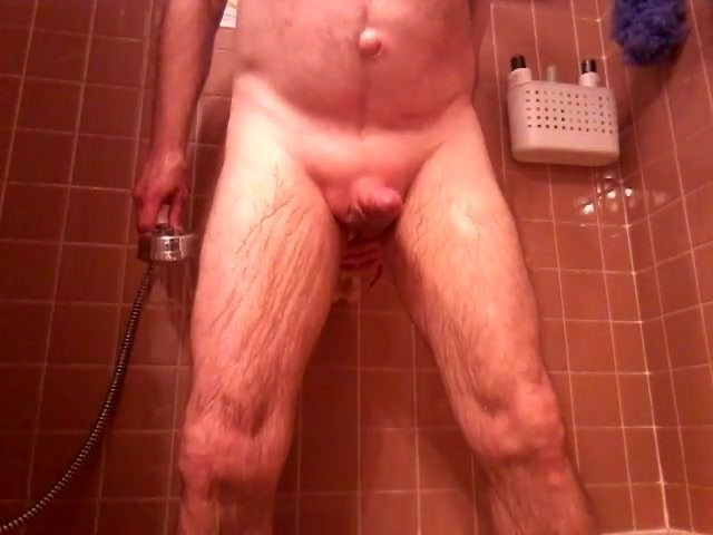 Hands free cum in shower, gay cum tribute porn af