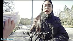 Public Agent Asian Alina Crystall fucked in abandoned