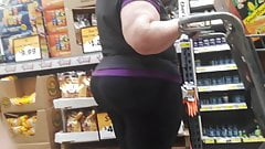 BBW PAWG granny with mega juicy booty in tights Pt 3