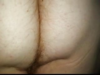 Rubbing assholes Rubbing the wifes sexy hairy asshole pussy