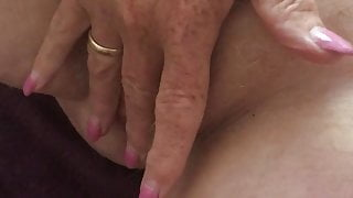 My mature redhead loves her hairy pussy