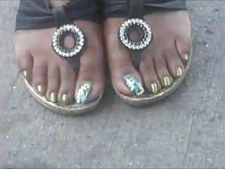 Sexy green Tammy sexy green toenails
