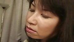 Asian Cougar Gets a mouthfull