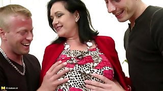 Mature bigtit mother seduced by two step sons