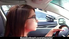 ExxxtraSmall - Small-Frame Babe Fucks The Parking Attendant