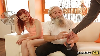 DADDY4K. Step Son joins dirty sex actof his girlfriend and lustfu