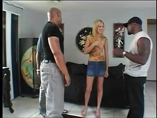 Anal sex gang - Skinny blond gets gang banged and dped by black dudes