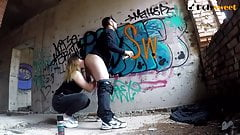 Rimming a guy when he was painting graffiti and then pegging