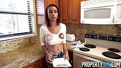 PropertySex - Tenant with phenomenal tits fucks landlord