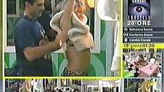italian Big Brother - grande fratello - mascia ferri boobs out, sorry no audio