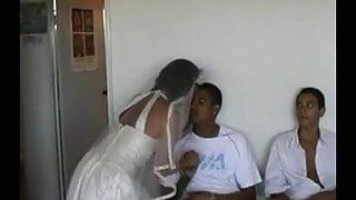 Bride Sharing with Brazilian Guys in Honeymoon