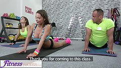 Fitness Rooms creampie for hot brunette Jenifer Jane