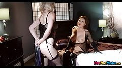 Kinky Lesbians play with Whips