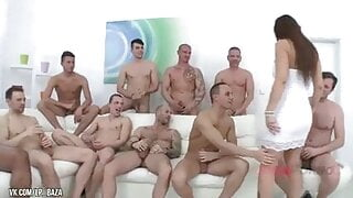 10 on 1 mature gangbang slut