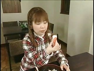 Cum on food videos Japanese teen enjoys sperm on food