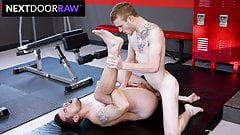 Gym Jocks Have Intense Post Workout Fuck In Locker Room