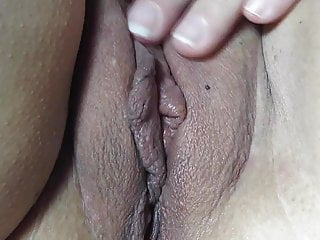 Cum in my gaping Smearing a little of my cum on nicki,s pussy close up