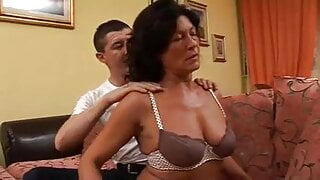 Give neighbor woman a massage