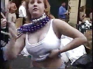 Breast paint mardi gras Big breasted mardi gras flasher
