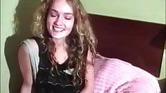 Beautiful curly hairy teen solo
