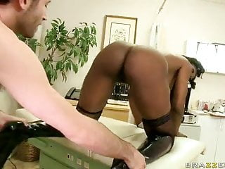 Ebony mature and young - Ebony milf nyomi banxxx gets assfucked from behind