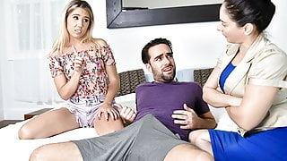 FamilyStrokes - Tiny Stepsis Lets Her Big Bro Pound Her