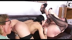 Threesome anal and good licking..