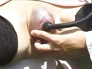 Vacuum pumping breast - Mature pussy vacuum pump