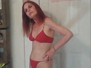 Redhot anal babe Redhot redhead show red bikini photoshoot