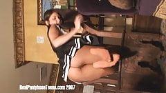Pantyhose Cheerleader Undressing