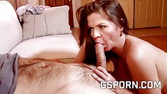 The pussy of busty June Summer filled of creampie