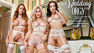 Naughty America - Hot MILFS share a cock in Virtual Reality!