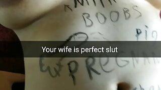 This MILF wife is a perfect cumdump slut! - Milky Mary Snap
