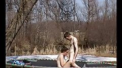 trampoline bouncing hard sex