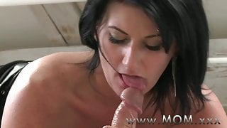 STEP MOM Mature MILF takes charge of her man